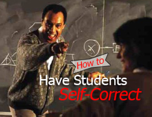 How to Have Students Self Correct Their Mistakes